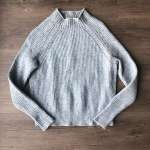 J. Crew | Blue Donegal Mock Neck Sweater
